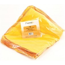 "Preema Yellow Dusters (13""x20"" approx) (10pieces)"