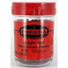 Preema Bright Red Food Colour Powder 25g