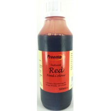 Preema Natural Red Food Colour 500ml