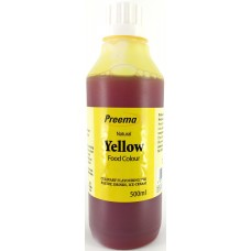 Preema Natural Yellow Food Colour 500ml