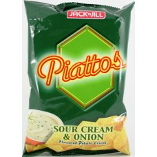 J & J Piattoes Sour Cream & Onion 85g